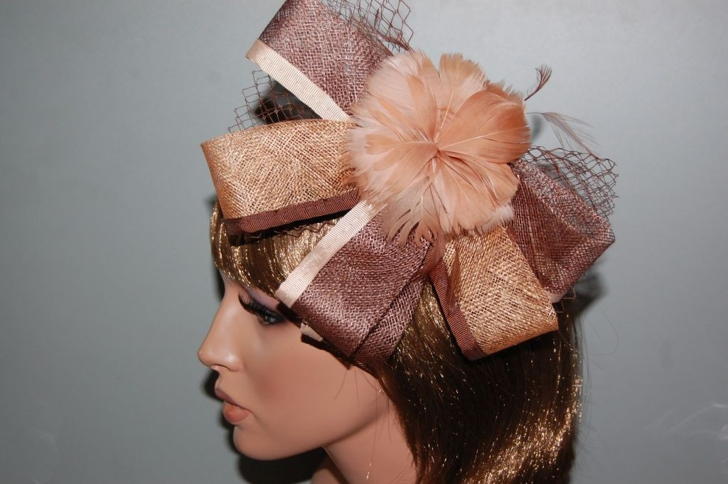 Elsa Brown and gold headdress