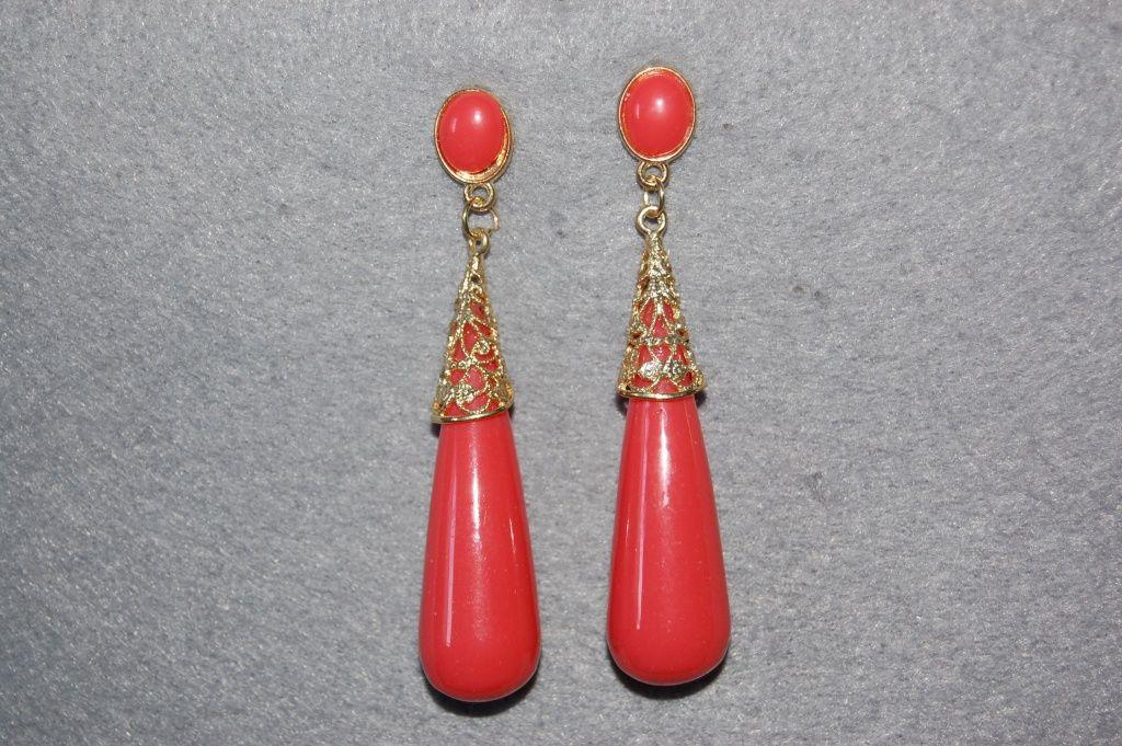 Coral coral earrings