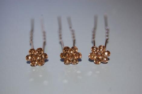 Three clips Golden Flower