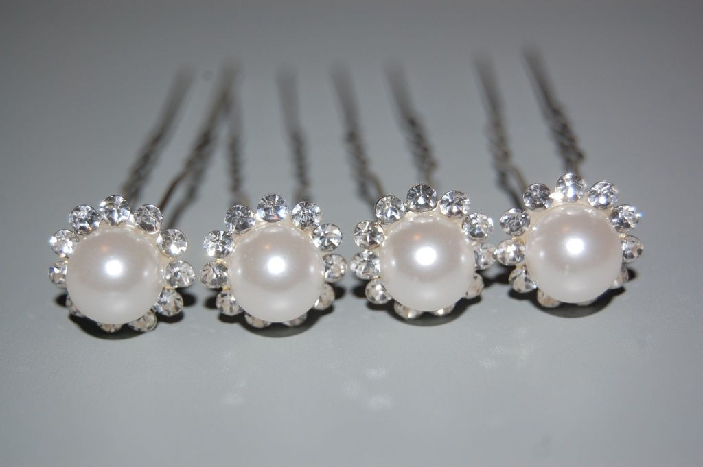 4 forks set pearls and glitter