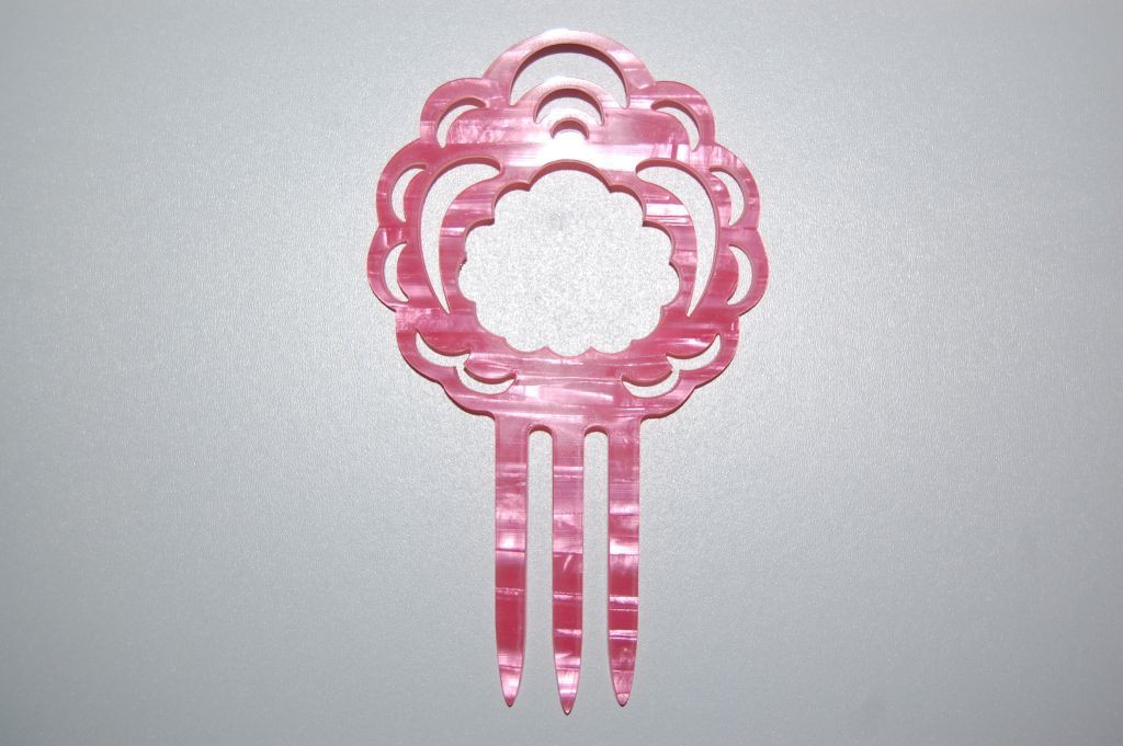 Conjunto 2 peines Aurora rosa
